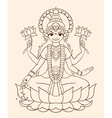 Goddess Lakshmi vector image vector image