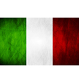 Grunge Italian flag vector image vector image