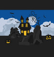 halloween holiday info graphic elements flat vector image