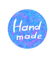 hand drawn icon handmade on watercolor vector image