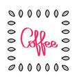 handwritten coffee pattern coffee beans vector image