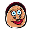 Happy cartoon face vector image vector image