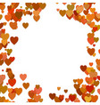 happy chaotic heart background design vector image vector image