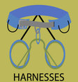 Harnesses for climbing icon vector image vector image