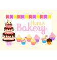 home bakery birthday cake vector image