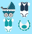icon set childrens clothes vector image