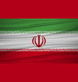 iran flag flag of iran blowig in the wind eps 10 vector image