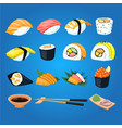 japan sushi food asia tasty culture vector image