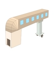 Jet bridge icon cartoon style vector image vector image