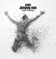 Jump man graphics composed of particles vector image vector image