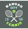 Kansas City Tennis t-shirt vector image vector image