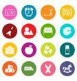 kindergarten symbol icons many colors set vector image vector image
