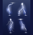 lightning realistic energy glow special weather vector image vector image