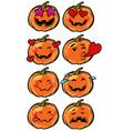 love heart passion confusion emoji halloween vector image vector image