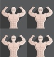 male muscle grey gym health fitness symbol vector image vector image