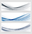 modern dotted wave header collection vector image vector image