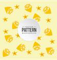 pattern lemon orange color background image vector image