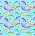 pattern with colorful umbrellas vector image vector image