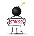 person in a stressful state vector image