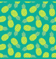 pineapple background summer colorful tropical vector image vector image