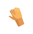 protective safety gloves icon flat isolated vector image