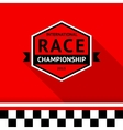 Racing badge 03 vector image vector image
