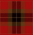 red and black tartan plaid seamless pattern vector image vector image