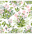 roses seamless pattern red white and pink vector image