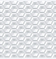 seamless 3d hexagons pattern vector image vector image