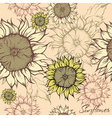 seamless pattern - field of sunflowers vector image vector image