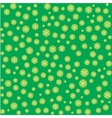 Seamless pattern with snowflakes on green vector image vector image