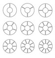 segmented wheel set vector image