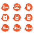 Set of 9 Transport ORANGE LABEL vector image vector image