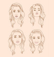 set of four european woman portraits vector image