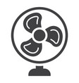 table fan solid icon household and appliance vector image vector image