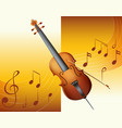 violin with music notes in background vector image