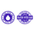 water with gas grunge stamp seals vector image vector image