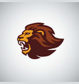 wild lion roaring head icon design vector image vector image