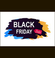 black friday sale inscription color brush strokes vector image