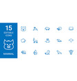 15 mammal icons vector image vector image
