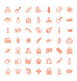 49 fire icons vector image vector image