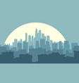 abstract big city at night with moon vector image