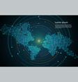 abstract technology map dot digital future vector image