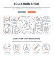 banner equestrian sport vector image