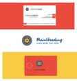beautiful eye ball logo and business card vector image vector image