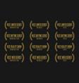 best tv show nomination award vector image