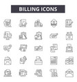 billing line icons for web and mobile design vector image vector image