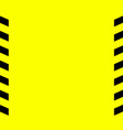 black and yellow warning line striped vector image