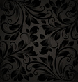 Black Seamless Floral Wallpaper vector image vector image