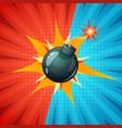 cartoon bomb fuse wick spark icon vector image